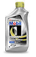 Mobile 1 Extended Performance Motor Oil Bottle